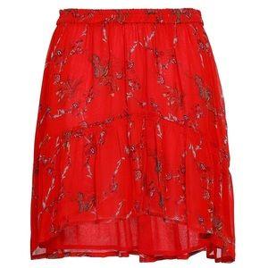 IRO Woman Lilie Gathered Printed Gauze Mini Skirt